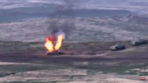 Война в Нагорном Карабахе. Кадр из видео