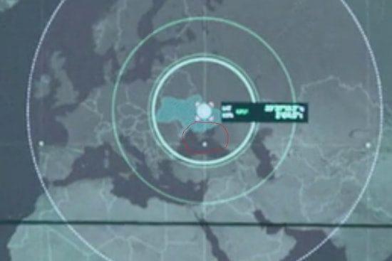 Кто-то из глазастых зрителей разглядел-таки на радарах американских военных Украину без Крыма. Фото: Фейсбук