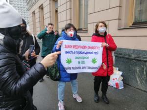 Акция за легализацию каннабиса, 25 января 2021, Киев. Фото Klymenko Time
